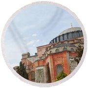 Hagia Sophia 17 Round Beach Towel