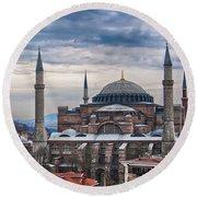 Hagia Sophia 19 Round Beach Towel