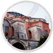 Hagia Sophia Buttresses Round Beach Towel