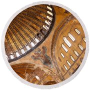 Hagia Sophia Dome 01 Round Beach Towel