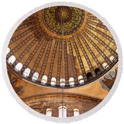 Hagia Sophia Dome 02 Round Beach Towel