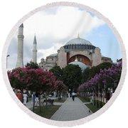 Hagia Sophia I - Istanbul - Turkey Round Beach Towel