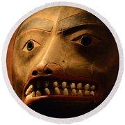 Tlingit Mask Round Beach Towel