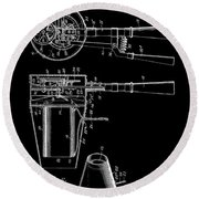 Hair Dryer 2 Patent Art 1911 Round Beach Towel