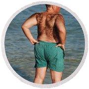 Hairy Ocean Round Beach Towel
