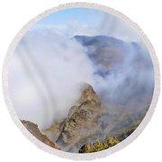 Haleakala Mists Round Beach Towel