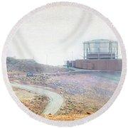 Haleakala Observatories Round Beach Towel