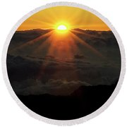 Haleakala Sunrise Round Beach Towel