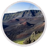 Haleakala Sunrise On The Summit Maui Hawaii - Kalahaku Overlook Round Beach Towel by Sharon Mau