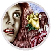 Haleys Apparition Colored Round Beach Towel