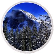 Half Dome Clearing Round Beach Towel