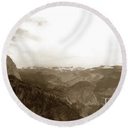 Half Dome From Glacier Point Yosemite Valley  California Circa 1910 Round Beach Towel