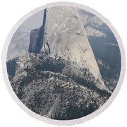 Half Dome Glacier Point Round Beach Towel