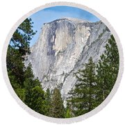 Half Dome In Spring In Yosemite Np-2013 Round Beach Towel
