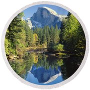 2m6708-half Dome Reflect Round Beach Towel
