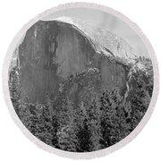 Half Dome Yosemite Round Beach Towel by Heidi Smith