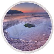 Half Past Yesterday Round Beach Towel