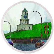 Halifax Historic Town Clock Round Beach Towel