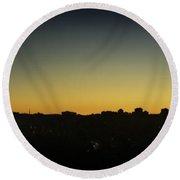 Halifax Sunrise Skyline Round Beach Towel