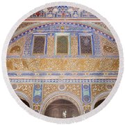 Hall Of Ambassadors In The Royal Alcazar Of Seville Round Beach Towel