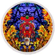 Hall Of The Color King Round Beach Towel