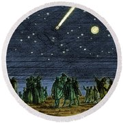 Halleys Comet 1682 Round Beach Towel