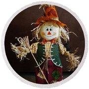 Halloween Scarecrow Round Beach Towel