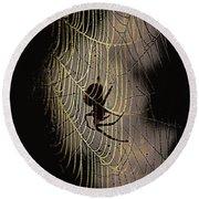 Halloween - Spider Round Beach Towel