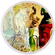 Halucinogenic Toreador By Salvador Dali Round Beach Towel by Henryk Gorecki