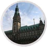 Hamburg - City Hall - Germany Round Beach Towel