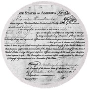 Hamilton: Appointment, 1777 Round Beach Towel