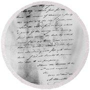 Hamilton: Letter, 1777 Round Beach Towel