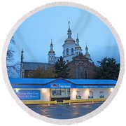 Hamilton Orthodox Church Round Beach Towel