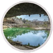 Hamilton Pool Round Beach Towel by David Morefield