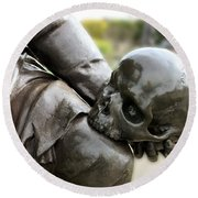 Hamlet Contemplating The Skull  Round Beach Towel by Terri Waters