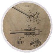 Hammer Patent Drawing Round Beach Towel
