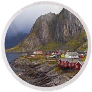 Hamnoy Rorbu Village Round Beach Towel