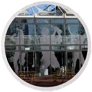 Hampshire County Cricket Glass Pavilion Round Beach Towel