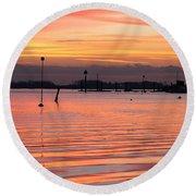 Hampshire Sunset Round Beach Towel