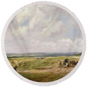 Hampstead Heath, C.1820 Round Beach Towel