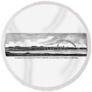 Hampton, Virginia Forts Round Beach Towel