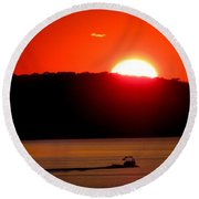 Hamptons Sunset Round Beach Towel