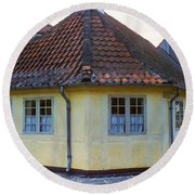 Hans Christian Anderson Birthplace Round Beach Towel