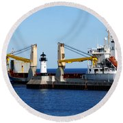 Han Xin Ship Round Beach Towel