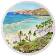 Hanauma Bay - Oahu Round Beach Towel