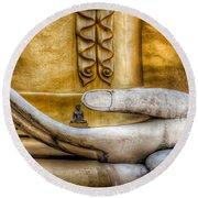 Hand Of Buddha Round Beach Towel
