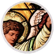 Hand Of The Angel Round Beach Towel