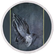Hands Of An Apostle 1508 Round Beach Towel by Philip Ralley
