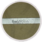 Handy Andy Wrench Round Beach Towel