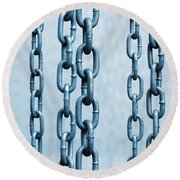 Hanged Chains Round Beach Towel by Carlos Caetano